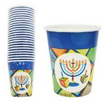 Hanukkah Illumination Coated Paper Cups 24 Count