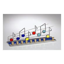 Art Glass & Metal Menorah - Music Note Menorah
