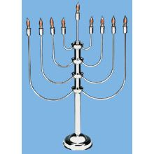 Extra Large Silver plated Electric Menorah