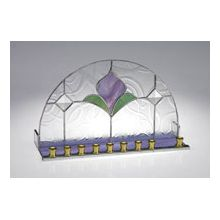 Art Glass & Metal Menorah - Art Nouveau Menorah