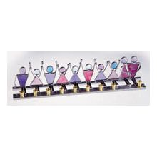 Art Glass & Metal Menorah - Family Celebration Menorah