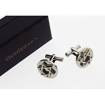 Stainless Steel Star of David Cufflinks