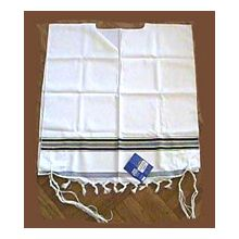 Traditional Wool Tzitzit Israeli Style with Fringes
