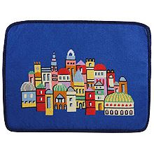Preassembled Needlepoint Tallit Bag - Jerusalem