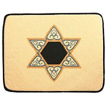 Preassembled Needlepoint Tallit Bag - Beige Star