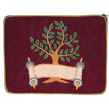 Preassembled Needlepoint Tallit Bag - Tree of Life