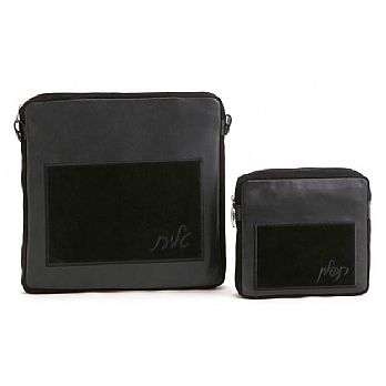 Leather Tallit/Tefillin Bag-Classic Black