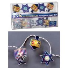 Hanukkah Hologram Light Set