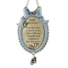 Adorable Baby Blessing Plaque - Blue