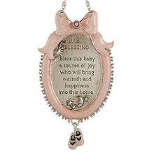 Adorable Baby Blessing Plaque - Pink