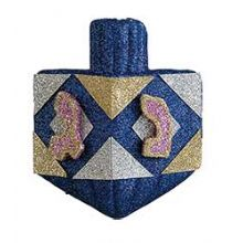 Hanukkah Glittered Dreidel Decoration - Wall or Window