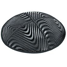 Embossed Suede Kippot - Waves