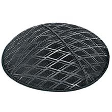 Embossed Suede Kippot - Diamond