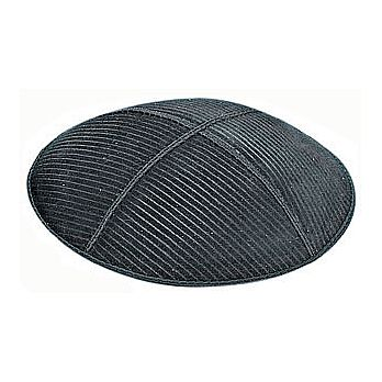 Embossed Suede Kippot - Thin Lines