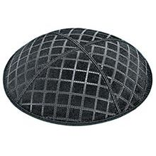 Embossed Suede Kippot - Quilted