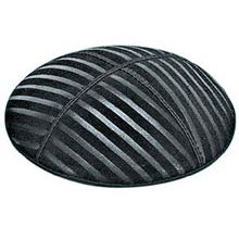 Embossed Suede Kippot - Thick Lines