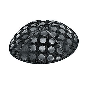 Embossed Suede Kippot - Large Dots