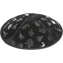 Embossed Suede Kippot - Animals