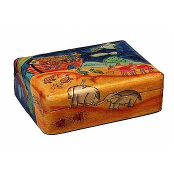 Wooden Jewelry Box - Noah's Ark