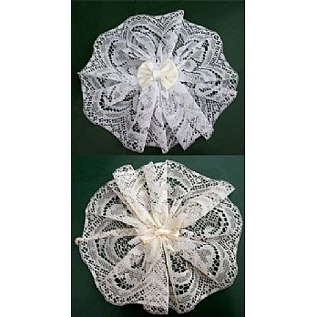 Women's Hair Cover (Doily) w/Bow & Comb