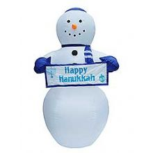 Lawn Blowup Airblown Inflatable Happy Hanukkah Snowman