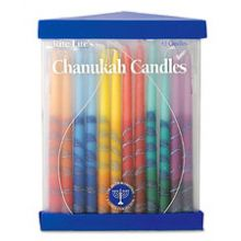 Hand Decorated Rainbow Candles