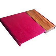 Aluminum and Wood Challah Board by Emanuel - Fuchsia