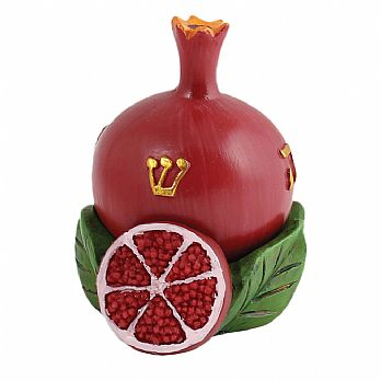 Polyresin Pomegranate Collectors Dreidel with matching Display