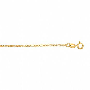 24K Gold over Sterling silver Figaro Chain