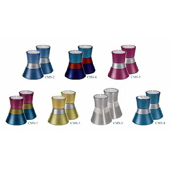 Anodized Aluminum Small Candlesticks