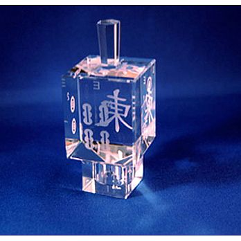 Mahjong Crystal Dreidel with Stand