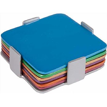 Aluminum Coasters / Dishes by Emanuel - Set of 6 Multi Color