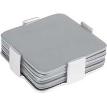 Aluminum Coasters / Dishes by Emanuel - Set of 6 Silver