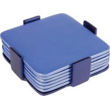Aluminum Coasters / Dishes by Emanuel - Set of 6 Blues