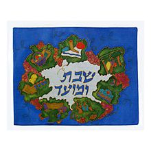 Emanuel Painted Silk Challah Cover - All Jewish Holidays