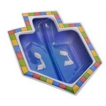 Disposable Hard Plastic Dreidel Dish - Large