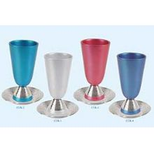 Anodized Aluminum Kiddush Cup & Coaster By Emanuel