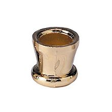 Menorah Candle Cups - Brass V-Shape