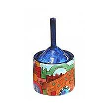 Wooden Art Dreidel Box by Yair Emanuel - Old City Icons
