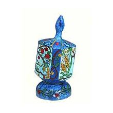 Large Art Dreidel with Display Stand - 7 Species
