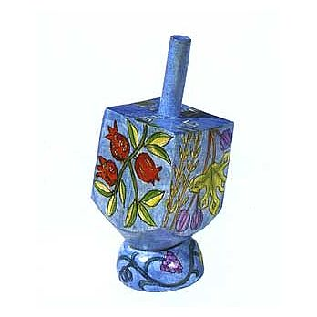 Small Art Dreidel w/Display Stand - 7 Species