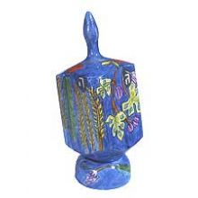 Jumbo Wooden Dreidel with Display Stand - 7 Species
