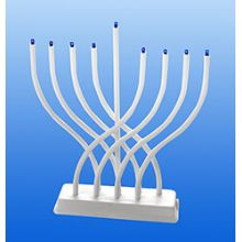 Electric Menorah Low Volt with White Body