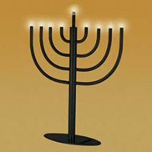 Traditional Low Volt Electric Menorah - Black