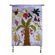 Judaic Wall Hanging - 7 Species Large