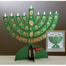LED Electronic Menorah - Go Green