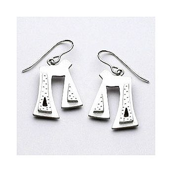 Sterling Silver Chai Earrings