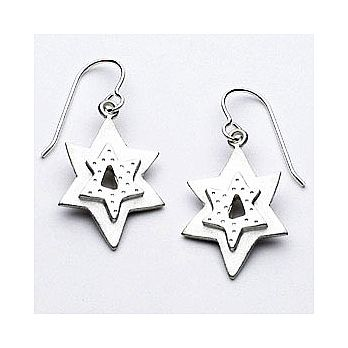 Sterling Silver Star of David Earrings