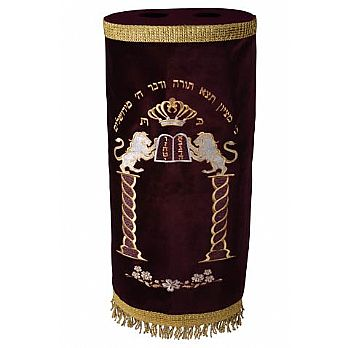 Velvet Torah Mantel (Cover) - Ten Commandments