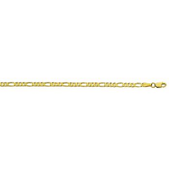 14K Yellow or White Gold Heavy-Weight Figaro Chain